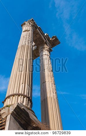 Old columns at the Marcellus Theatre in Rome.