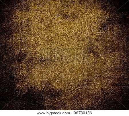 Grunge background of drab leather texture