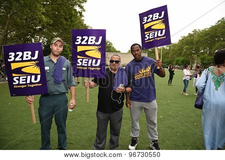 Members of 32BJ SEIU