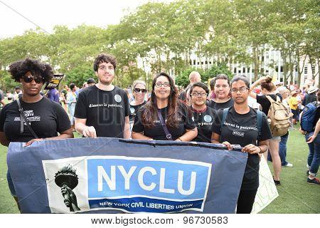 NYCLU members