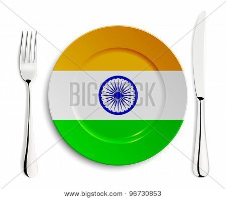 Plate with flag of India
