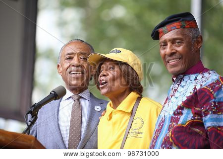 Al Sharpton, Hazel Dukes, Herbert Daughtry