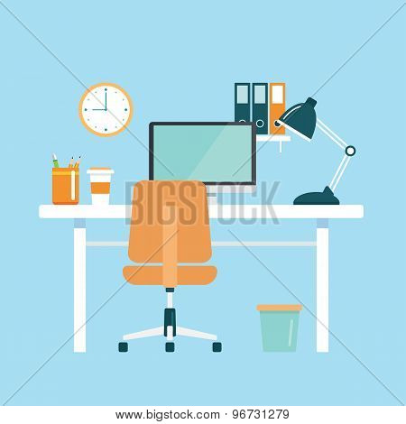 Office Workplace Flat Design