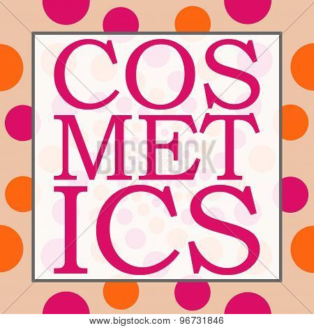 Cosmetics Peach Pink Circles Square