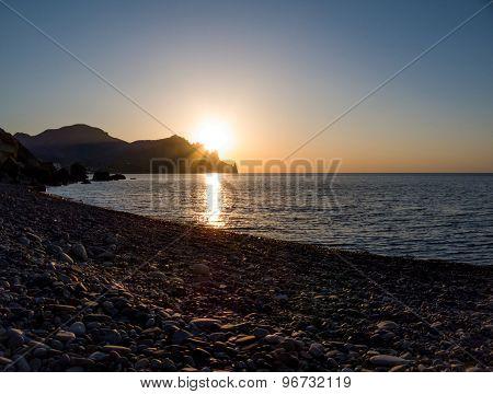 Dawn On The Black Sea Volcano Kara-dag