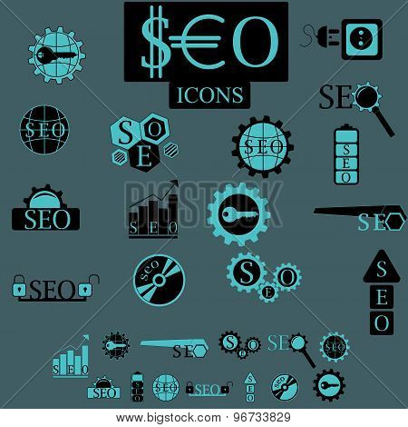 seo elements vector set