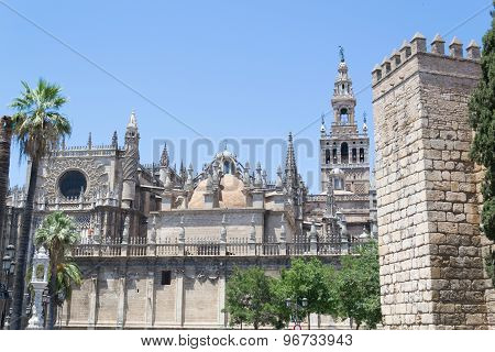 Santa Maria De La Sede Cathedral And Giralda In Seville