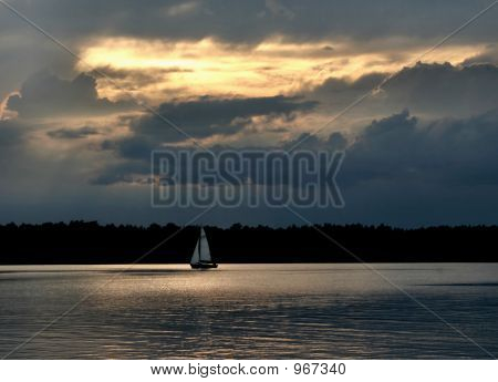 Sailboat Against The Sky  2