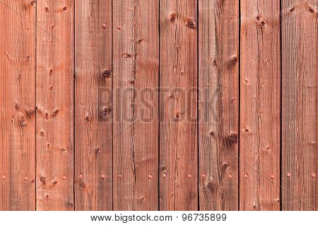 Old Red Rural Wooden Wall, Detailed Background Photo