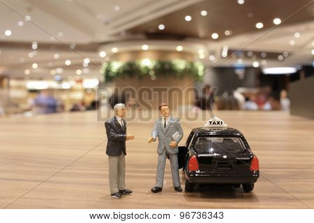 Small Business Figure With Japan Taxi
