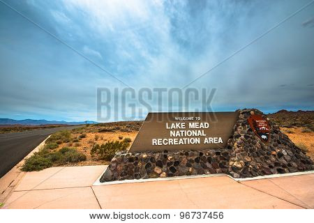 Lake Mead National Recreation Area Entrance Sign