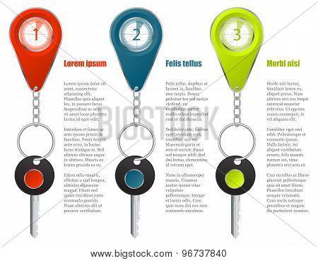 Key And Keyholder Infographic Design