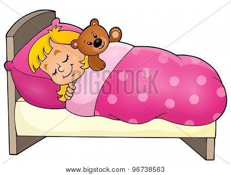 Sleeping child theme image 1 - eps10 vector illustration.
