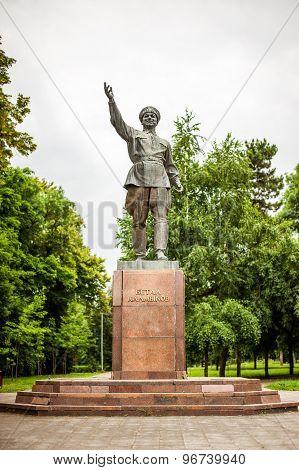 Monument of Betalu Kalmykov in Nalchik, Kabardino-Balkaria