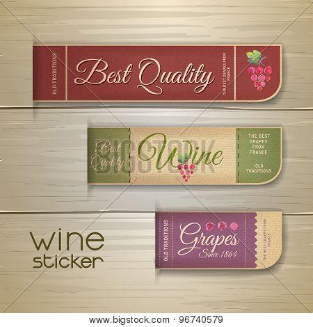 Set Of Wine Vintage Labels