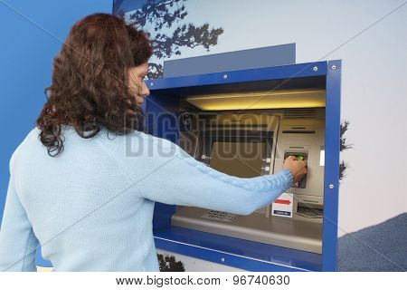 Credit card in a ATM