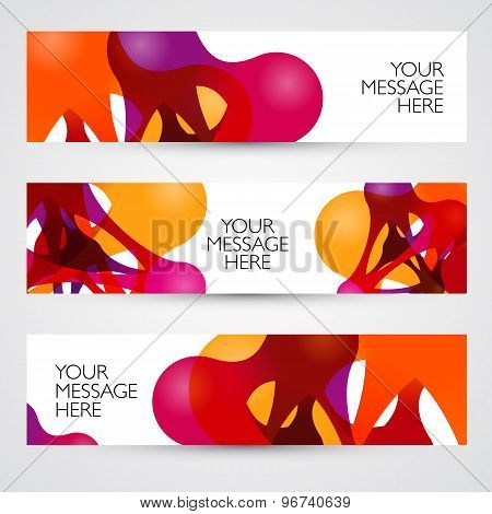Colorful abstract vector banners.