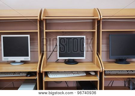 Computer class at school