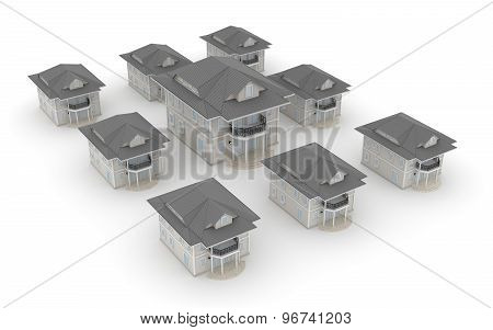 Group Of House