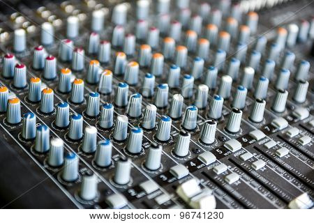 Concert Or Dj Music Mixer Desk