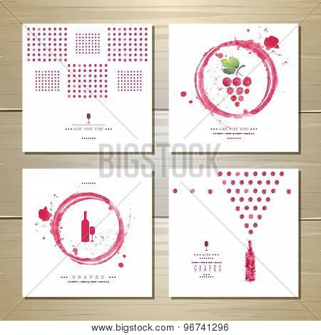 Art Wine Cards And Labels Design