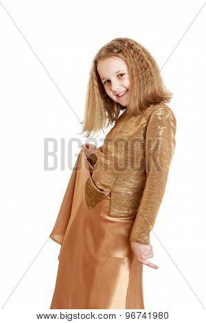 Girl in fashionable dress