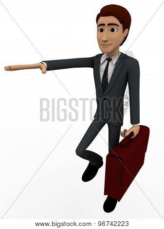 3D Man With Toy Key On Back Concept