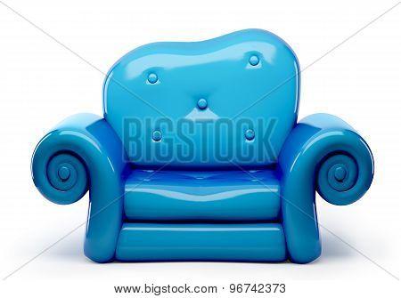 3D Sofa Cartoon Isolated On White