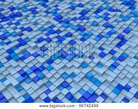 Cubes In Blue Tones