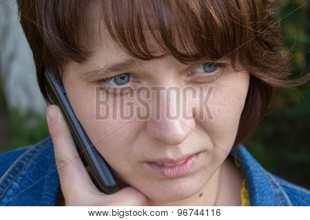 Shocked Woman With Phone