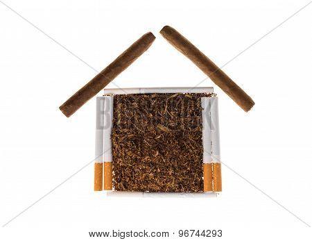 Tobacco and cigarettes.