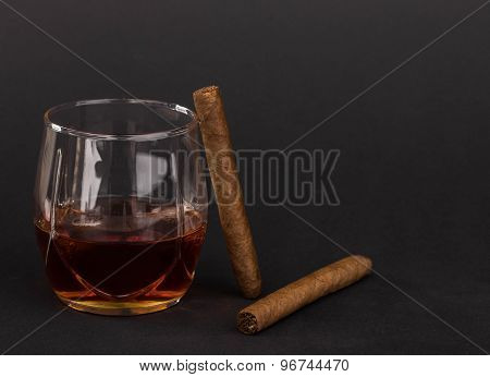 Whiskey and cigars.