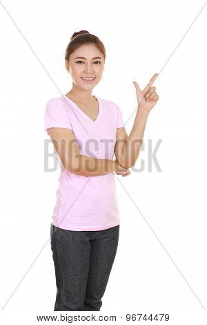 Woman Think Of Idea With T-shirt