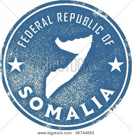Somalia Africa Country Stamp