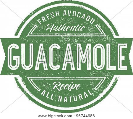 Authentic Guacamole Menu Stamp