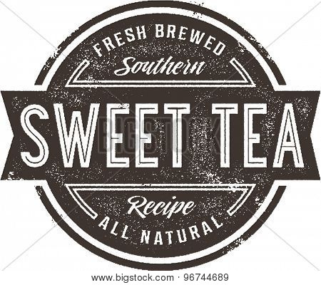Vintage Sweet Tea Menu Stamp or Restaurant Sign