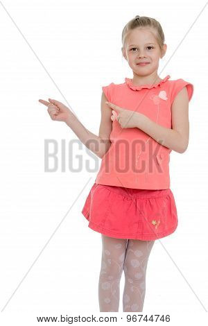 Girl showing thumbs