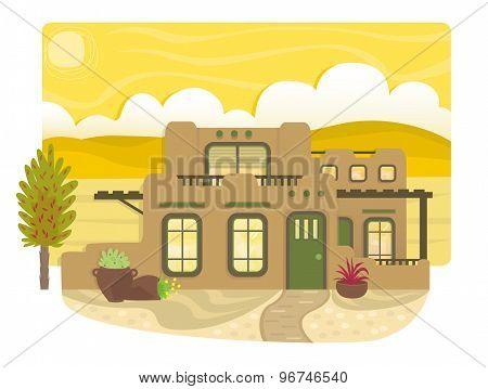 Pueblo Style House