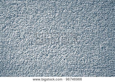 Closeup of blue carpet texture