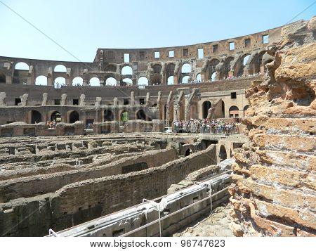 Interior of the Rome Colosseum