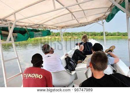 Safari On The White Nile River In Uganda