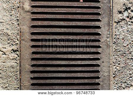 manhole metallic textures