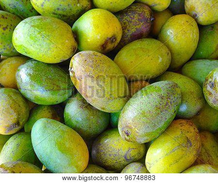 The close view of mango