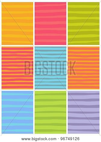 Irregular Line Patterns In Multiple Colors