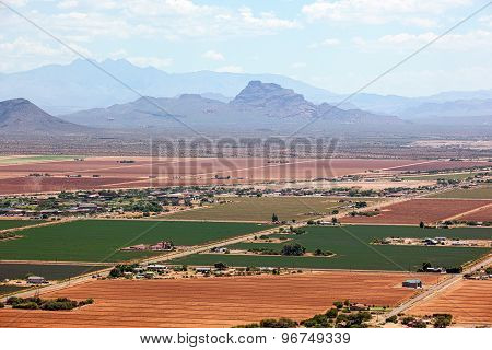 Red Mountain And Four Peaks