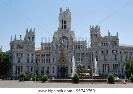 Madrid City Hall During The Gay Pride