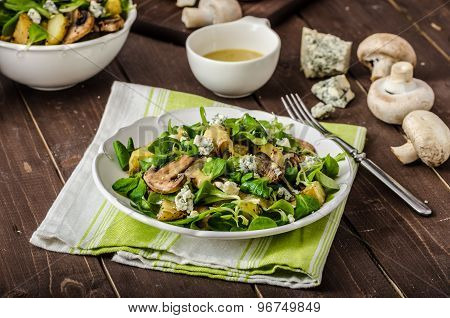 Fresh Salad With Vegetable And Blue Cheese