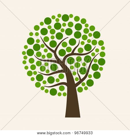 Big green ecology tree.