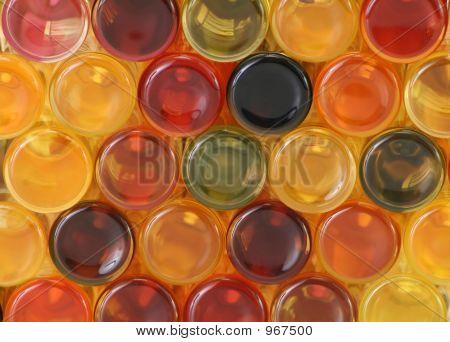 Colorful Bottles Back