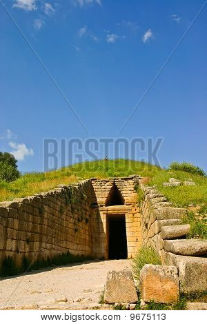 Tholos Tomb With Tourists On Top